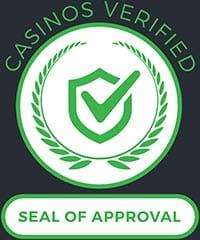 Casinosverified.com seal of approval
